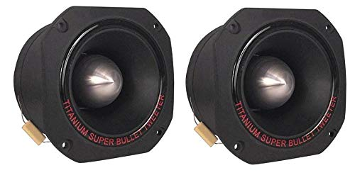 Pyramid TW67 3 Inch 1000 Watt Max 500 Watt RMS Aluminum Titanium Die Cast Car Audio Super Tweeter with Mylar Crossover Capacitor for Vehicle Sound System, Black (2 Pack)