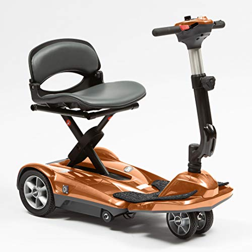 Dual Wheel Auto Fold Mobility Scooter ? Adjustable Height Tiller ? Remote Control Folding Travel Scooter with On Board Charging