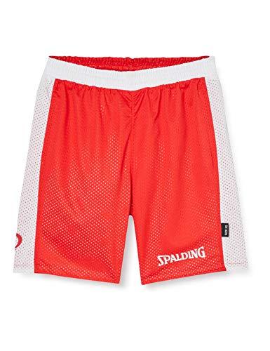 Spalding Essential Reversible Short de Juego, Hombre, Rojo/Blanco, XXL