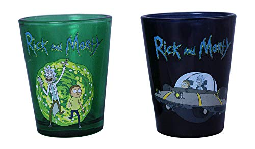 Rick And Morty Shot Glass 2 Pack Standard