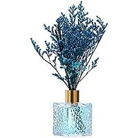 Ornament del Hogar Botella de vidrio difusor de aceite de lámina de larga duración de 80 ml - perfumado con palitos naturales, flores artificiales, perfume for vehículos, ambientadores for automóviles