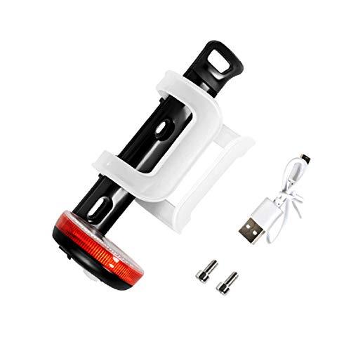 COEMA Soporte para Botella de Agua para Bicicleta con Luz de Advertencia Portavasos de Bicicleta con Carga USB para Hombre Y Mujer Portabebidas de Plástico para Bicicleta de Montaña Y