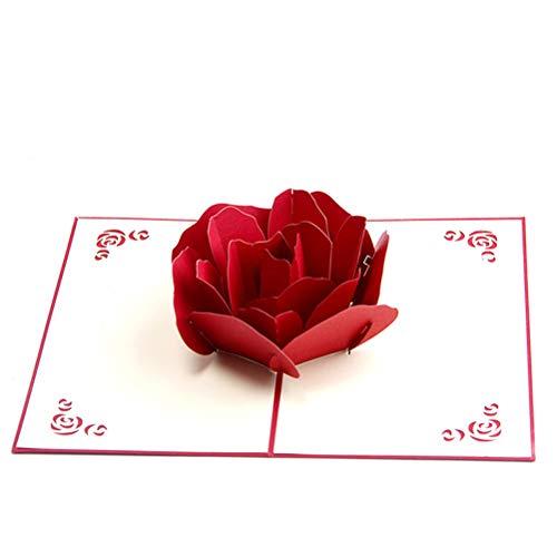 Carte de Voeux 3D,Pop Up Carte R...