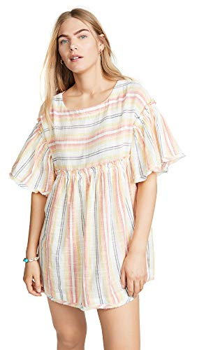 Free People Summer Night Striped Tunic (Yellow Combo)