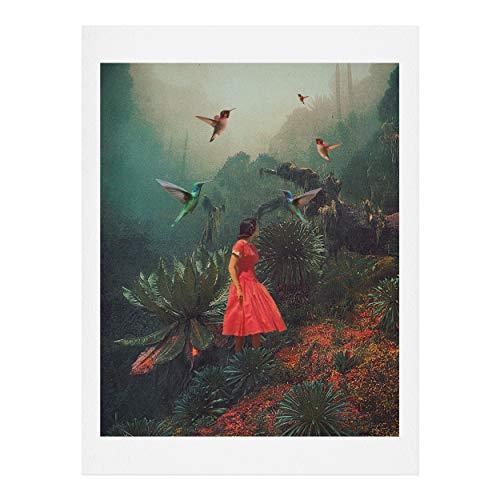 Society6 Frank Moth 20 Seconds Before The Rain Kunstdruck, 100% Baumwollfaser-Papier, Mehrfarbig, 11