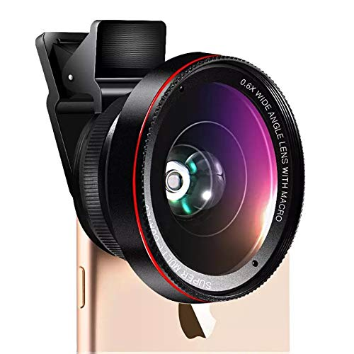 ZAKEO Mobile Phone Camera 2-in-1 Lens Assembly 0.4X-0.6X Wide-Angle and Macro Lens for Most Smartphones