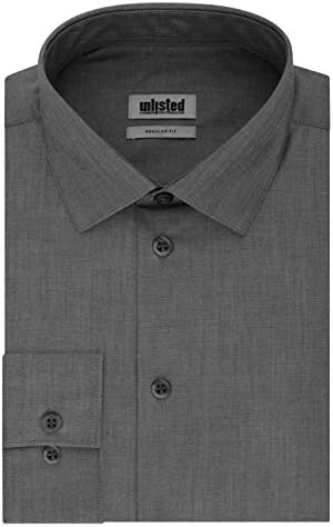 Unlisted by Kenneth Cole mens Regular Fit Solid Dress Shirt Graphite 16 16 5 Neck 32 33 Sleeve product image