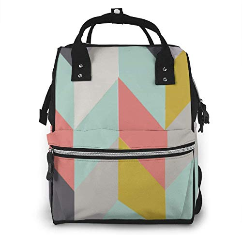 Diaper Bag Backpack Travel Bag Large Multifunction Waterproof Multi Element Stripe Style Stylish and Durable Nappy Bag for Baby Care School Backpack