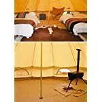 Sporttent Camping 4 Season Waterproof Cotton Canvas Bell Tent with Stove Hole and Cable Hole 10