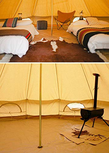 Sporttent Camping 4 Season Waterproof Cotton Canvas Bell Tent with Stove Hole and Cable Hole 2