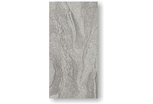 2 Stück Feinstein Fliesen CIPOLLINO GRIGIO (60×120×1cm) matt grau Wandfliesen Bodenfliesen Küche Wohnraum Bad Feinsteinzeugfliese Verkleidung