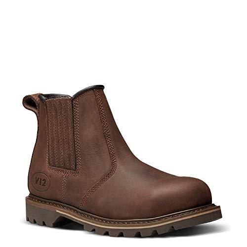 V12 Rawhide, Oiled Leather Safety Dealer, 10 UK 44 EU, Brown