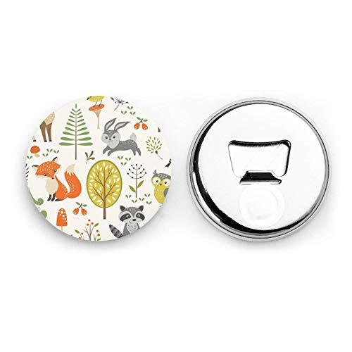 Magneti da frigorifero per animali del bosco Apribottiglie da birra Bottiglia di coca cola Vino Soda Apribottiglie Magnete da cucina Apribottiglie Magnetico 2 pezzi