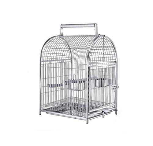 Spazio-cremagliera gabbie di metallo Parrot, Pet Shop balcone Mostra Gabbie acciaio inossidabile Voliere for piccoli animali domestici 42 * 37 * 63cm Uccelli / Birdhouses (Dimensioni: 42 * 37 * 63cm)