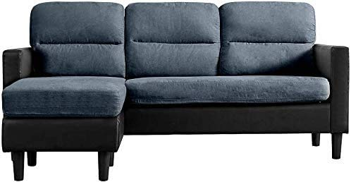 3 persone Divano ad angolo divano, tessuto in fibra di alta qualità, messo sul divano da banco,A