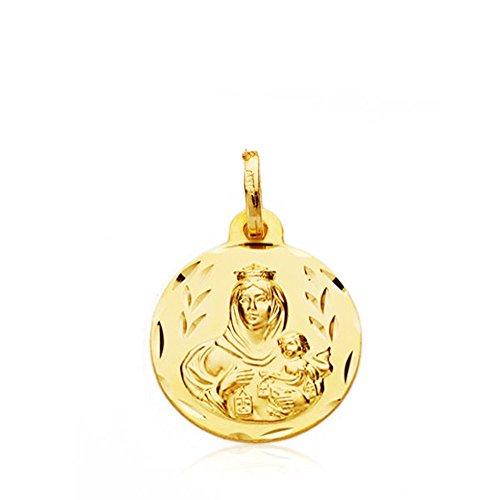 Medalla oro 9k Virgen Carmen 16mm. [AB4861]