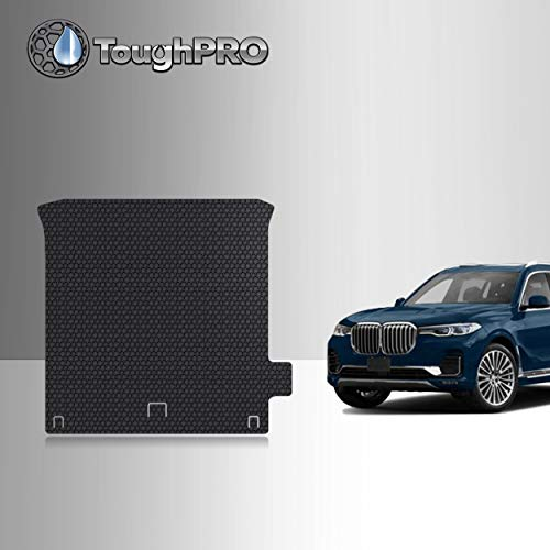 TOUGHPRO Cargo/Trunk Mat Accessories Compatible with BMW X7-3rd Row Down - No Luggage Compartment Package - All Weather - Heavy Duty - (Made in USA) - Black Rubber - 2019, 2020
