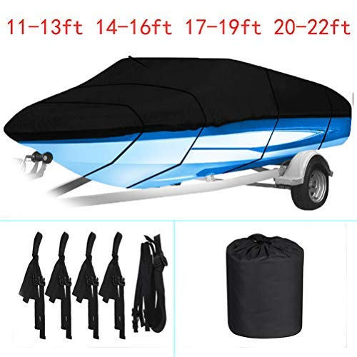labworkauto Waterproof Heavy Duty 210D Boat Cover Trailerable Boat Cover