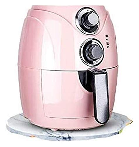 SUCICI 2.5L Automatic Fryer Air Fry Fries Machine Household Mini Air Fryer Fully Automatic Intelligent No Fuel Electric Deep Fryer Oven UK Pink