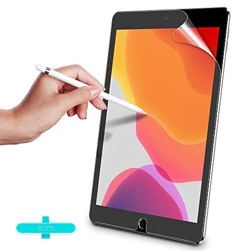 ESR Paper-Feel Display Schutzfolie [2 Stück] Kompatibel mit iPad 10.2 2019 Displayschutz für iPad 7 Generation 10,2 Zoll [Schreiben/Malen wie auf Papier] - Blendfreie Matte PET Folie mit Montageset