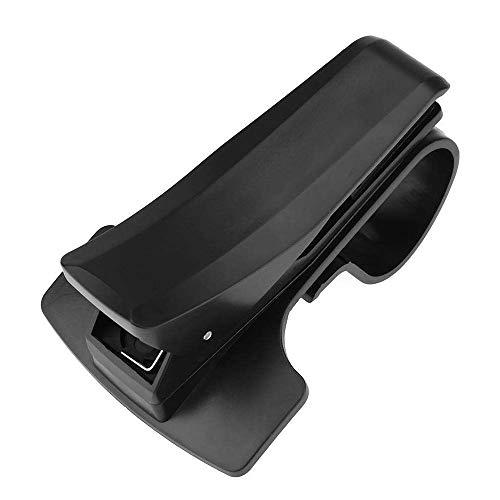 KKmoon Soporte de teléfono giratorio para coche, clip universal ajustable para salpicadero de coche, soporte de visualización GPS