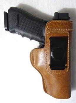 Springfield XD GLK Ruger Beretta S&W Taurus CCW IWB Premium Buffalo Leather Gun Holster - RIGHT HANDED