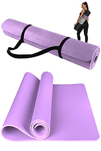 DOISPON Extra Wide Yoga Mat For Iyengar Yoga 72L x 32W x 2/5 Thick Non Slip Workout Fitness Home Exercise...