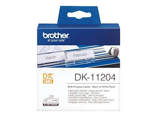 Brother DK11204 - Etiquetas precortadas multipropósito