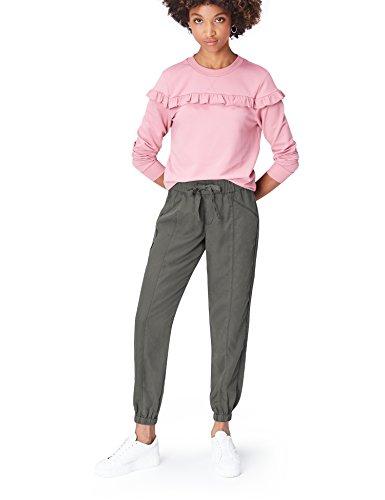 Marca Amazon - find. Pantalones Mujer, Grau (Grey), 38, Label: S