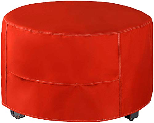 MEIOUKA Round Outdoor Fire Pit Cover Waterproof Windproof Furniture Table Cover Heavy Duty Round Fire Pit Cover - 30 Inch