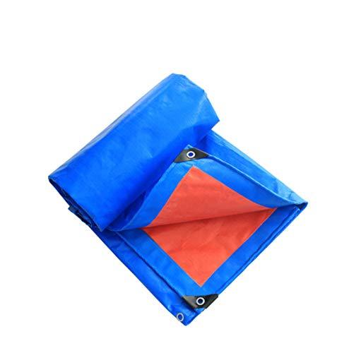 JHNEA Lona Impermeable, Lona de Protección con Ojetes Metálicos, Multiusos PE Lona Reforzada, Reforzada PE Alquitranada,2 * 3M(6 X 9ft)