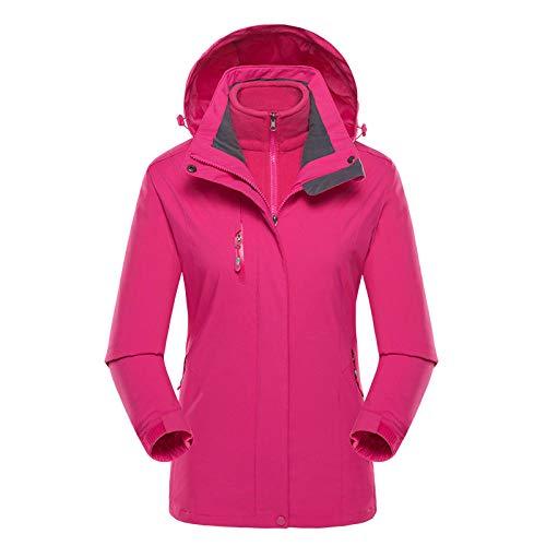 El otoño y el invierno al aire libre de la chaqueta de los hombres de dos piezas femeninas de tres en uno más terciopelo engrosamiento de traje de montañismo de los hombres-Masculino Azul Real_2XL