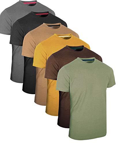 Full Time Sports® Tech 3-, 4- och 6-pack med blandade långärmade, kortärmade, lediga toppar, multipack, rundhalsad t-shirt för män