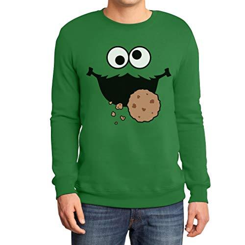 Carnaval & carnaval mannen koekmonster kostuum pulli sweatshirt