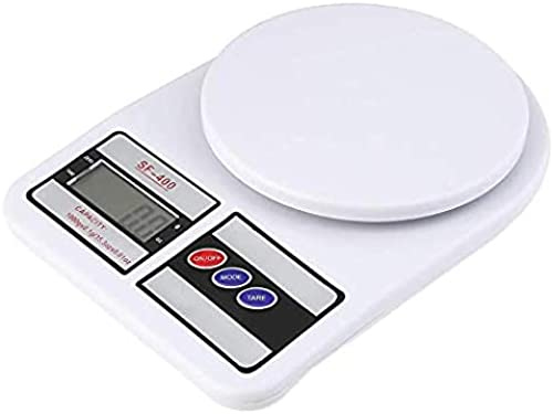 Fabium Electronic Weighing Machine for Kitchen Digital Weight Machine Food Weighing Scale For Fruits Vegetables Products Electric Weight Digital Weighing Scale Multipurpose White 10 Kg
