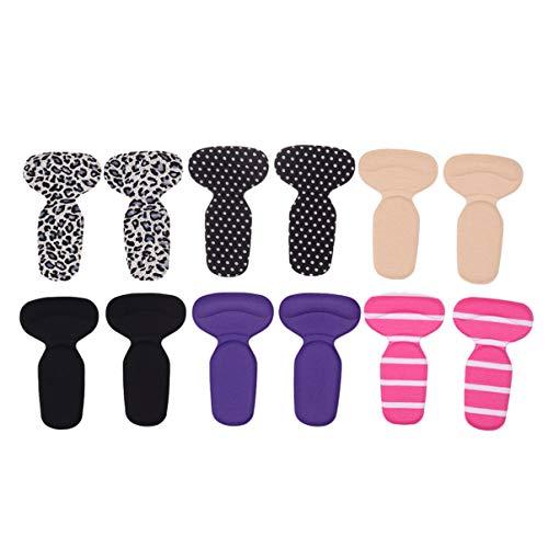 schuh fersenpolster , ULTNICE Schuh Fersen Pads Silikon Rücken Ferse Kissen Einlegesohlen T geformte Ferse Liner 6 Paar