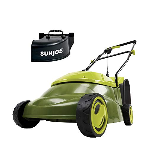 Sun Joe MJ401E-PRO 14 inch 13 Amp Electric Lawn Mower w/Side Discharge Chute, 14', Green