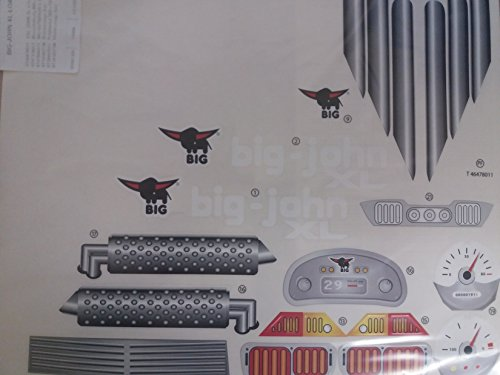 BIG Aufklebersatz Stickers für Traktor 80056547 John XL Loader komplett [Spielzeug]