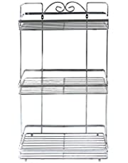 In-house Bathroom Organizer Shower Storage Rack, Stainless Steel, Silver, W 53.0 x H 29.8 x L 17.8 cm