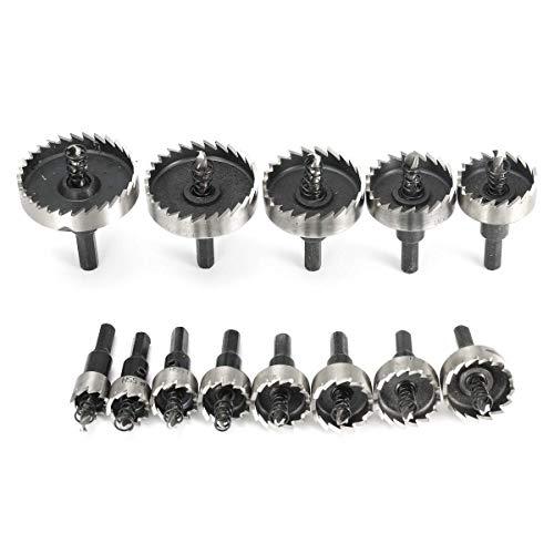 LKK-KK 13pcs 16-53mm HSS Hole Saw Cutter 16/18/20/22/25/26/28/30/35/40/45/50/53mm Hole Saw Drill Bits Set