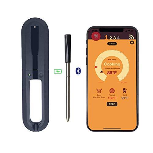 Buding Kabellose Smarte Fleischthermometer Mit 30m Reichweite Bluetooth Und WiFi Digitale Anschlussmöglichkeiten Für Ofen, Grill, Pfanne Und Rotisserie, Perfekter Fleischgenuss Via App