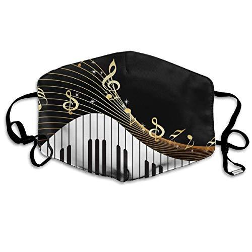 Goldene Noten mit Klavier Mundabdeckung Gesichtsabdeckung