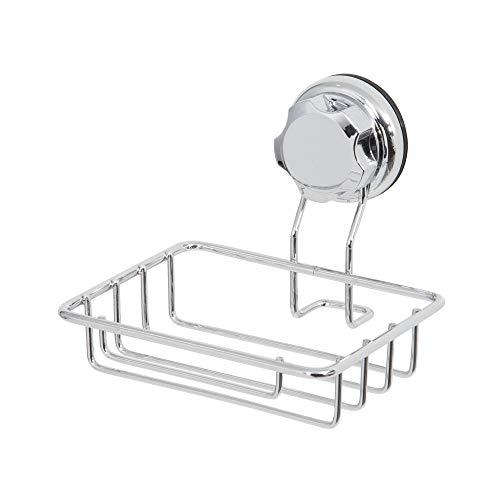 Compactor Bestlock succión Montado en la Pared jabonera, Cromado, Chrome 24H | Suction Cup : TPU and Abs, Applicable