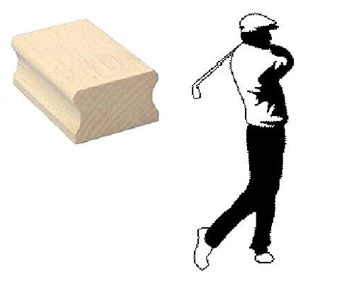 Stempel Holzstempel Motivstempel « GOLFER 01 » Scrapbooking - Embossing Sport Golfen Golf Golfspieler