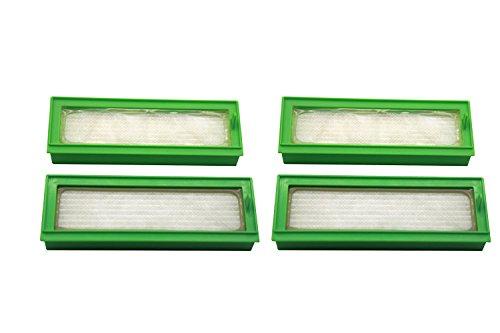 Green Label 4er-Pack. HEPA Filter für Vorwerk Kobold VR200 Robotersauger
