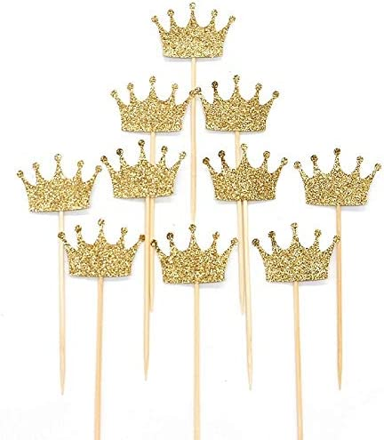 WCNMB Cake Decorations 10pcs Princess Gold Crown Giltter Popular shop is the lowest price challenge To Dealing full price reduction