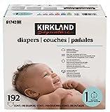 Kirkland Signature Diapers Size 1; Quantity: 192