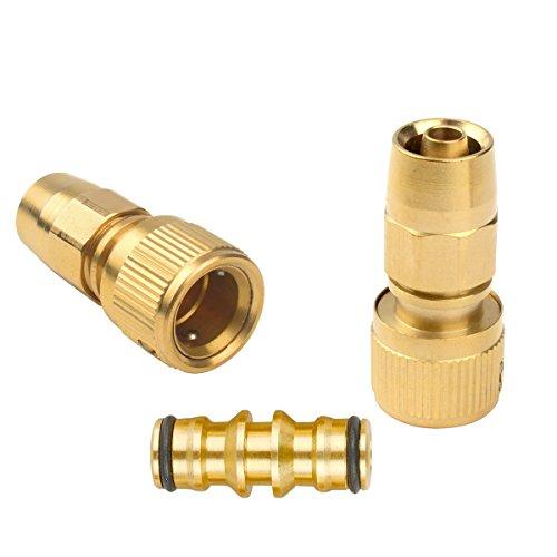 Set aus Messing Garden Xhose Expanding Gartenschlauch Gelenk Male Pipe Adapter Reparatur mit Schnellverbinder