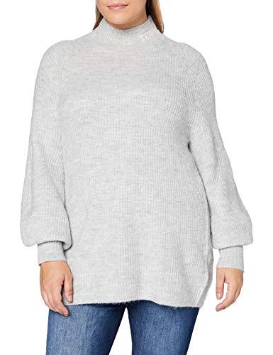 Tommy Jeans Damen Tjw Lofty Turtle Neck Sweater Pullover, Silbergrau Htr, L