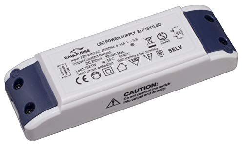 HuaTec Eaglerise LED Trafo Dimmbar 350mA 15W - 18,5W LED Netzteil Driver Treiber Transformator Konstantstrom für Lampen Leuchtemittel